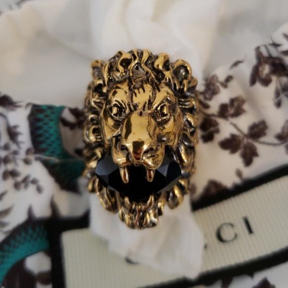 5f781b1df404fe Gucci Lion Head Ring